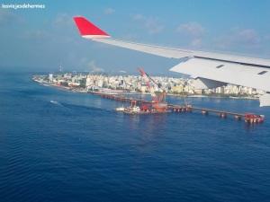 Male desde el avión de Sri Lankan Airlines